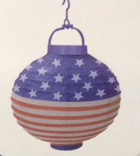 Patriotic LED Decorated Paper Lantern - 10