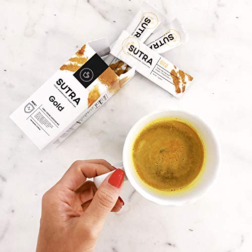 Caffeine-Free Prenatal Healthy Coffee Alternative Turmeric Superfood Latte Blend to Boost Immunity and Increase Energy during Pregnancy - 10 Single Serving Decaf Sticks - Vegan and Sugar Free