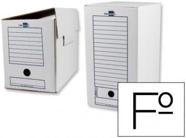 Caja de archivo definitivo liderpapel 367x251x200 mm PACK DE 50 UNIDADES: Amazon.es: Oficina y papelería