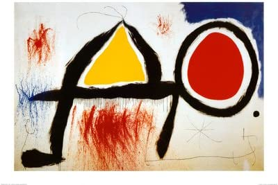 Lámina Personagge Devan Le Soleil, de Joan Miró, Tamaño: 70 x 100 cm: Amazon.es: Hogar