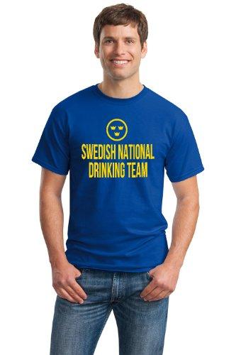 SWEDISH NATIONAL DRINKING TEAM Unisex T-shirt / Funny Sweden Beer Tee