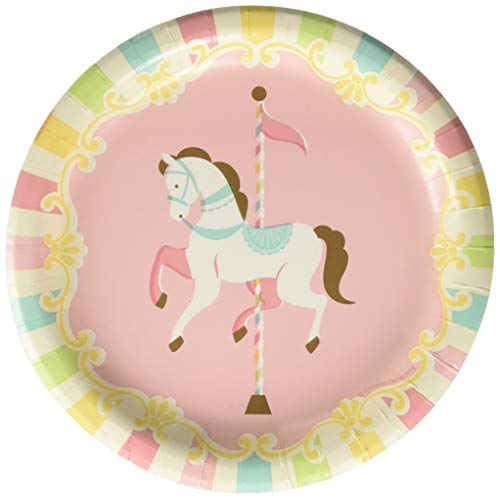 - Creative Converting 329351 Carousel Paper Dessert Plates Party Supplies, 7
