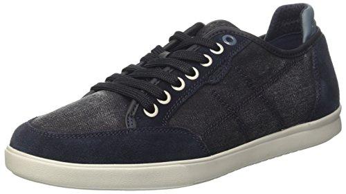 Geox U Walee A, Sneakers Basses Homme, Gelb (Ochreyellow) Bleu (Navyc4002)