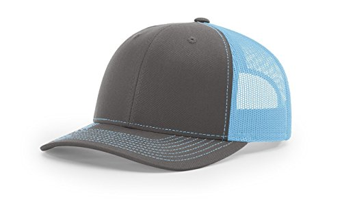 - Richardson Charcoal / Colonial Blue 112 Mesh Back Trucker Cap Snapback Hat