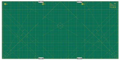 Olfa 35-Inch-by-70-Inch Gridded Cutting Mat Set Clipped by OLFA