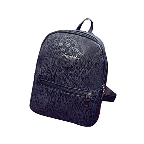 zycShang Sac de voyage Sac à Main sac d'école voyager en cuir sac à dos femmes épaule Sac à dos Noir