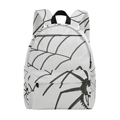 Halloween Spider Web School Backpack, Casual College Daypack Shoulder Book Bags Back for Men Womens Boys -