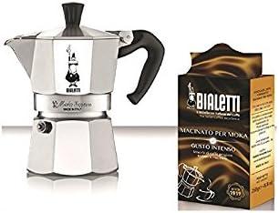 Bialetti-Juego de 0005965-Cafetera italiana 3 tazas, 250 g de café MOKA EXPRESS: Amazon.es: Hogar
