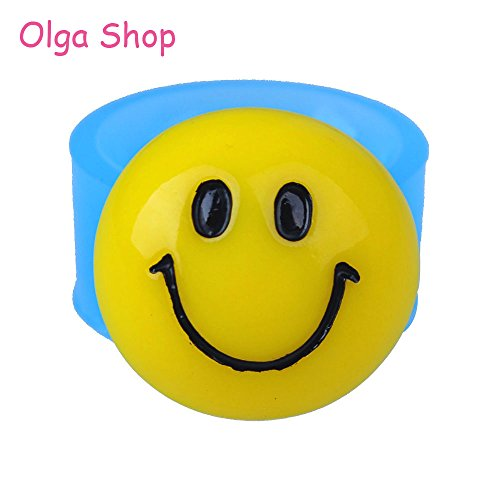 (Star-Trade-Inc - 15.9mm Smiley Face Emoji Flexible Siliocne Mold - Emoticon Mold Sugarcraft, Fondant, Cookie Biscuit, Resin Clay, Candy)