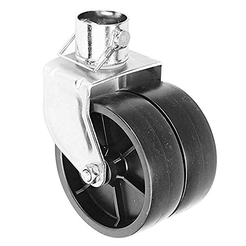 "NBJINGYI 6"" 1200lbs Dual Trailer Swirl Jack Caster Wheel with Pin fits Any Jack Better Soft Ground Roll"