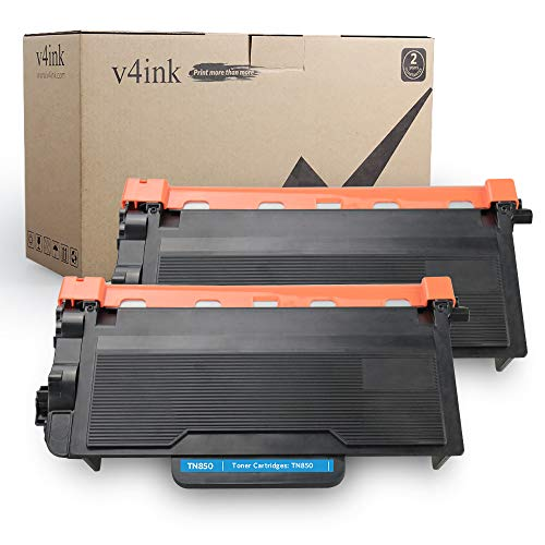 V4INK 2 Pack New Compatible Brother TN850 TN820 Toner Cartridge for Brother HLL6250DW MFCL5800DW HLL6200DW HLL6200DWT MFCL5900DW DCPL5650DN DCPL5600DN DCPL5500D Series Printers