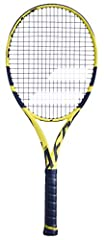Rafael Nadal`s racquet of choice, The Babolat 2019 Pure Aero Tennis Racquet get some nice upgrades and a beautiful bright yellow and black finish. The driving force for the Aero series is the Aeromodular beam construction for less wind drag a...