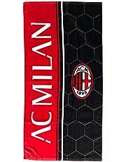 A.C. MILAN Ręcznik plażowy, czerwono-czarny, 70 x 140
