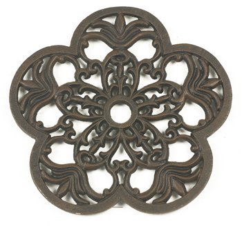 Heavy Duty Cast Iron Petal Trivet - Various Colours (Cream) Black Country Metal Works NG6001