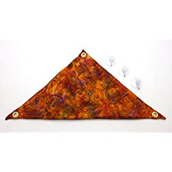 Hammock for Bearded Dragons, Orange Red Lavendar Batik Fabric with Suction Cup Hooks