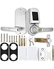 Reversible Handle Smart Lock Silver for Home Offices Hotels Apartments Restaurants Dormitories