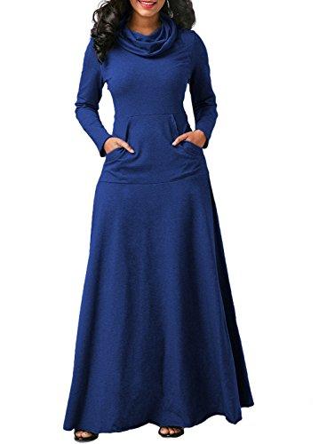 long sleeve a line maxi dress - 4