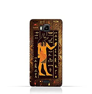 Huawei Y5C TPU Silicone Case with Egyptian Hieroglyphs Pattern