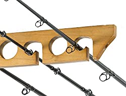 Organized Fishing Solid Pine Horizontal Ceiling Rack For Fishing Rod Storage, Holds Up To 9 Fishing Rods, Cpr-009