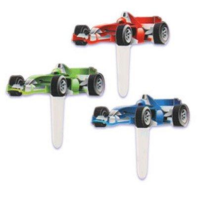 Price comparison product image Car Auto Racing Race Cupcake Picks - Pkg of 24