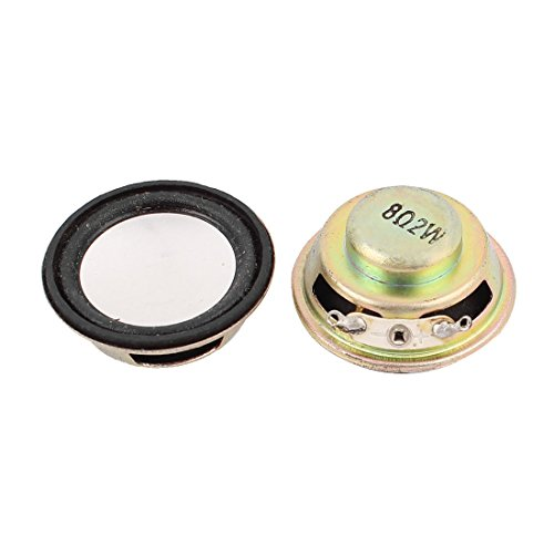 Aexit 2pcs 36mm 8Ohm 2W Round Internal Magnetic Speaker Loudspeaker by Aexit