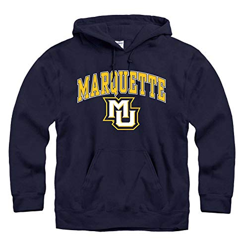 (Campus Colors Marquette Golden Eagles Arch & Logo Gameday Hooded Sweatshirt - Navy, XX-Large)
