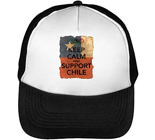Negro Keep Snapback Gorras Chile Hombre Blanco Calm Support Vintage Beisbol 1gwfqaOg