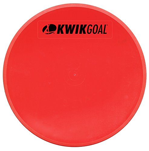 Kwik Goal Flat Round Marker (Pack of 10), Red
