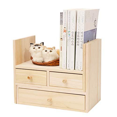 Almacenamiento y Organización Perchero de almacenamiento estante cosméticos estante de madera creativo simple IKEA mesa de...