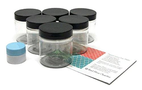 clear 4oz plastic jars - 9