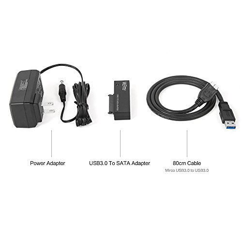 WEme USB 3.0 to SATA Converter Adapter for 2.5/3.5 inch Hard Drive Disk SSD HDD, Power Adapter and USB 3.0 Cable included by WEme (Image #7)