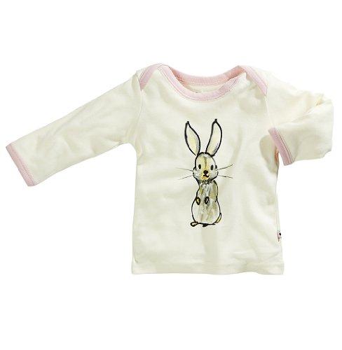 Cotton Tee World Organic (Babysoy Janey Baby Long Sleeve Lounge Tee (18-24 Months, Rabbit))