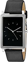 Skagen Hagen Rectangular Leather Watch
