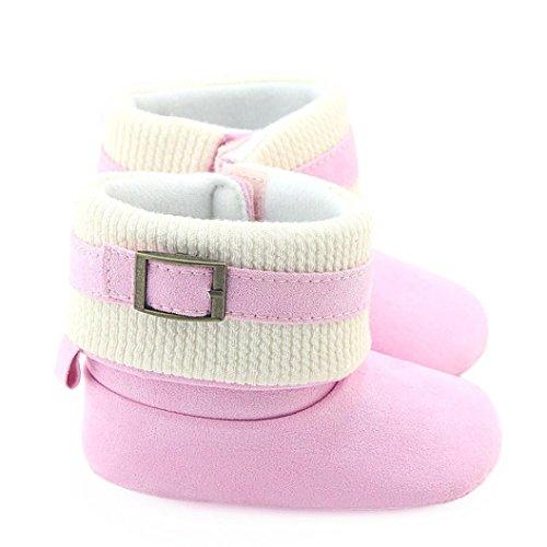 Baby Schuhe Jamicy® Kleinkind Neugeborene Bowknot Blume Baumwolle Krippe Stiefel Soft Sohle Prewalker Warm Schuhe For Baby Mädchen Jungen Rosa
