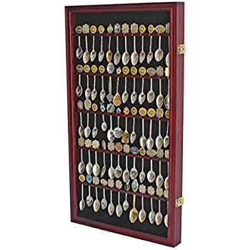 Amazon Com 60 Spoon Rack Display Case Holder Wall Cabinet
