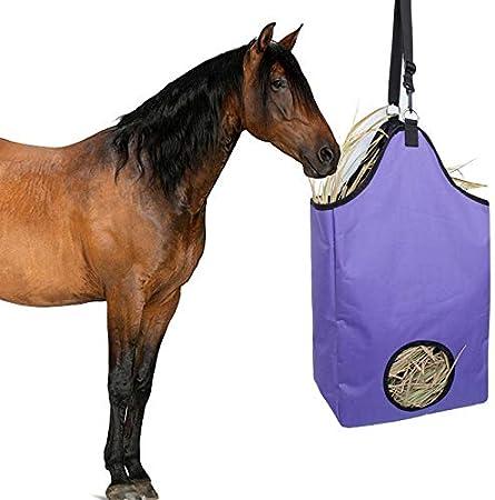 Granja del Caballo Alimentación Lenta Bolsa De Almacenamiento De Paja Outdoor Training Invitación Bolsa De Asas De La Bolsa De Tela Oxford Horse Training Bag Correa Ajustable