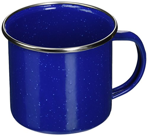 - Texsport Enamel Coffee Cup Mug with Stainless Steel Rim, Blue