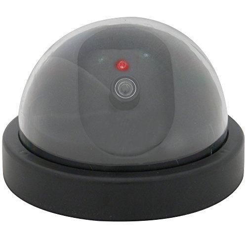 Cámara De Seguridad Falsa Tipo Domo Con Led Y Sensor De Movimiento