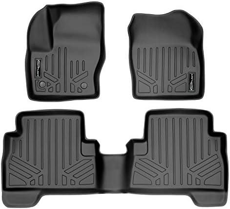 MAXLINER Floor Mats 2 Row Liner Set Black for 2013-2019 Ford Escape/C-Max