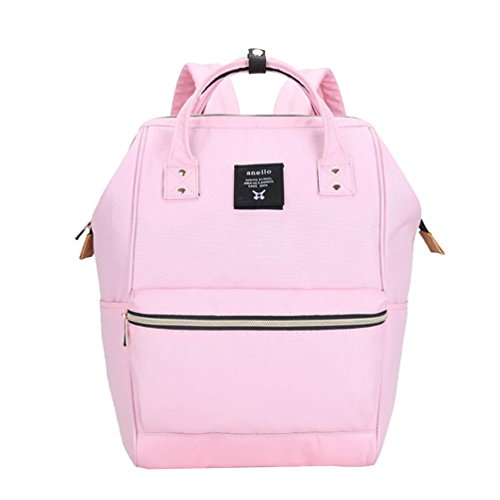 CHENGYANG Unisexo Ocio Mochila Multifuncional Sólido Lona Bolso Para Universidad Cámping Pink