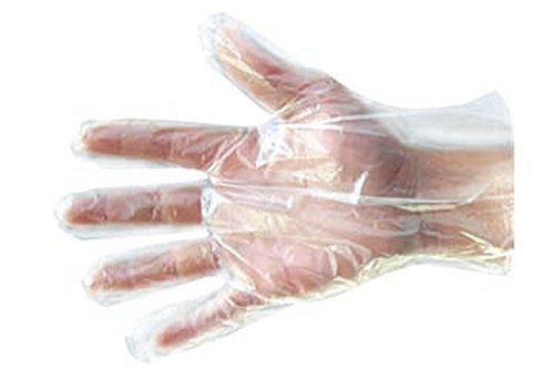 Kodenipr Club 300 Pcs(150 Pair) Disposable Transparent Clear Plastic Cleaning Gloves 2