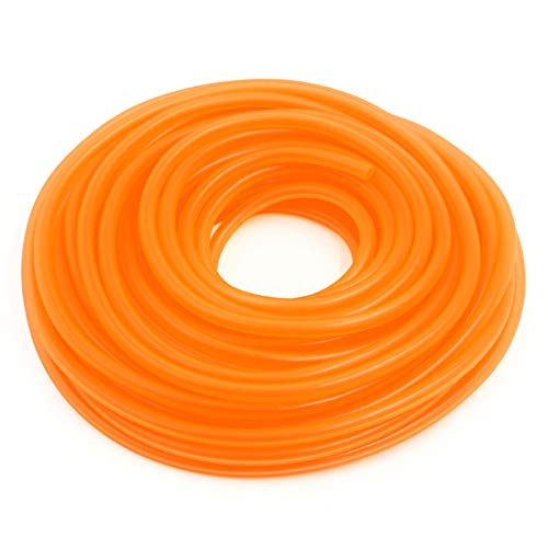 (AUTUT High Performance Gas Oil Injection Orange Fuel Lines 18 Metres Silicone Tubing Fuel Gas Hose Tube Petrol Hose Tube for Car)