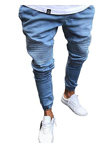 Comodi Denim Morbidi Da Lichtblau 88 Sottili Jeans Vita Estilo Bobo Elasticizzati Uomo Pantaloni Especial Bassa A XOSpxqqwFR