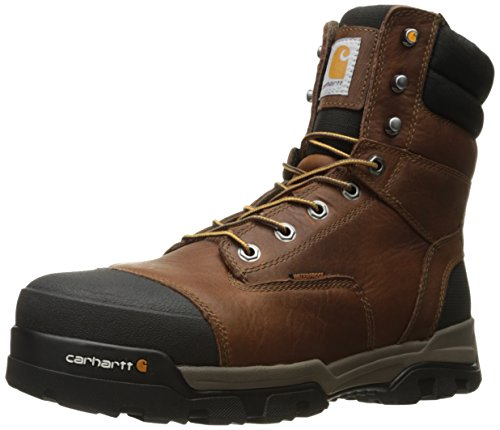 Carhartt Men's Ground Force 8-Inch Brown Waterproof Work Boot - Composite Toe - New For 2017 - CME8355 (Cat Safety Boots)