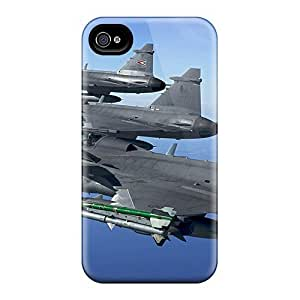 Cute Tpu Phone Case Fighter Jets Widescreen Case Cover For Iphone 4/4s