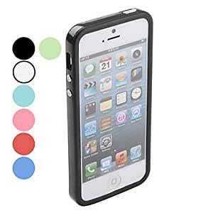 Solid Color Bumper Case for iPhone 5/5S (Assorted Colors) Lightning Sale --- COLOR:Blue