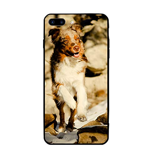 iPhone 7/8 Plus (5.5inch), Custom Design Rubber Case Compatible for iPhone 7/8 Plus Flying Australian Shepherd ()