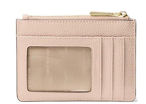 571a1070c23f MICHAEL Michael Kors Mercer Leather Coin Purse (Soft Pink) by MICHAEL  Michael Kors (