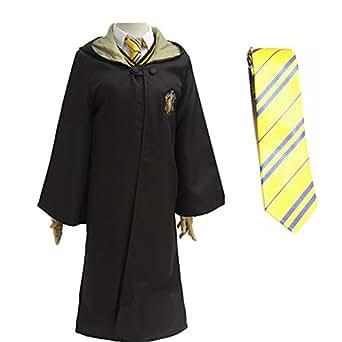 Super T Unisexo Halloween Capa Adulto Magia Robe Disfraz de Disfraz de la Etapa 4 Colores (S, Amarillo)