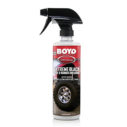 MACs Auto Parts 16-385346 Boyd Coddington ''Extreme Black'' Tire and Rubber Dressing, 16 oz.